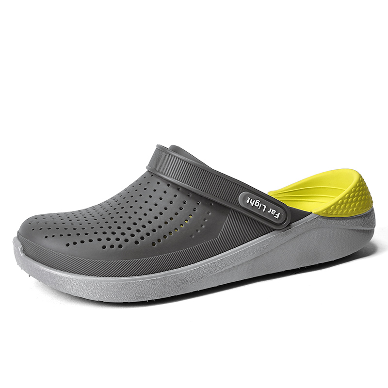 Summer Beach Shoes Woman Outdoor Slippers Breathable Sandals Men Antiskid Slides Couples Flip Flops Slip-on Crocse Zapatillas