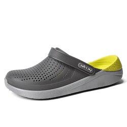 Verão sapatos de praia mulher chinelos ao ar livre sandálias respirável homens antiderrapante slides casais flip flops deslizamento-on crocse zapatillas