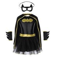 Девочки Бэтмен костюмы на Хэллоуин изящное платье-пачка Batgirl детский костюм детский Бэтмен наряды вечерние одевания супергероя Косплэй