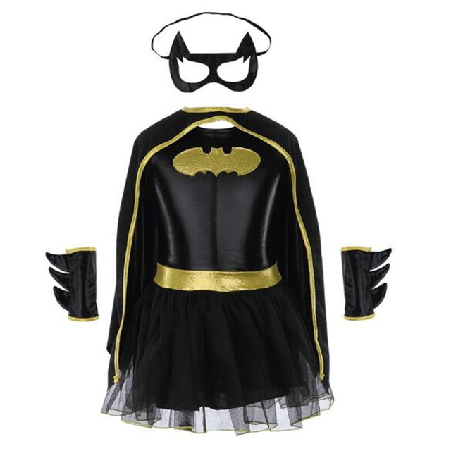 Girls Batman Halloween Costumes Fancy Tutu Dress Batgirl Kids ...