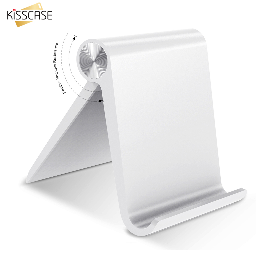 KISSCASE Universal Mobile Phone Stand Desk Phone Holder For iPad iPhone 6 7 8 Plus Tablet Holder Stand For Samsung Xiaomi Huawei