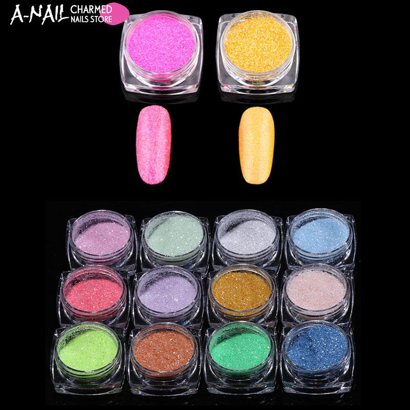 Kenntnisreich 12 Gläser/set Neuheiten Holographic Glitter Laser Pulver Nagel Glitter Maniküre Nail Art Chrom Pigment Diy Nägel-12 Farben Schönheit & Gesundheit