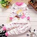 2017 nova primavera outono roupas de bebê definir 100% do bebê do algodão menina roupas de bebê menino conjunto de roupas de bebê Crianças conjunto de roupas bebes 2 pcs