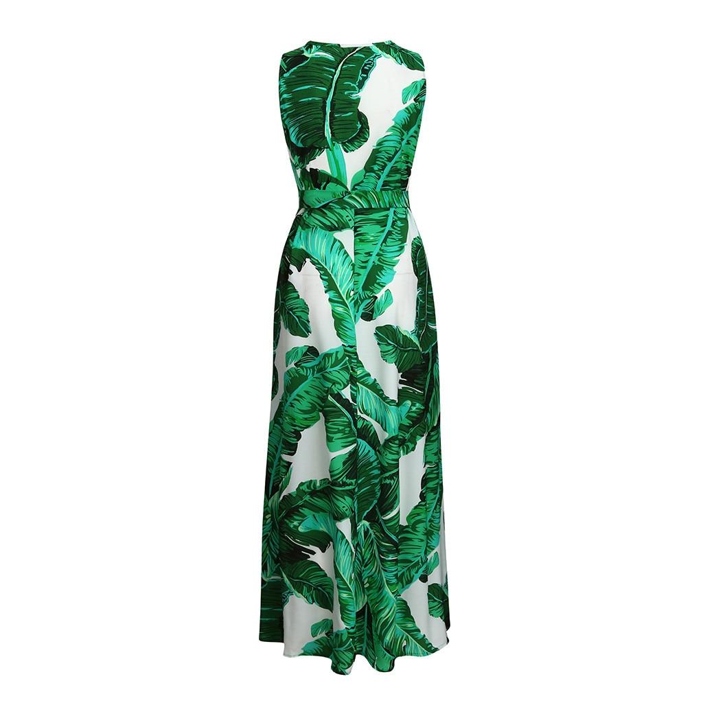 HTB1b8I6X21H3KVjSZFHq6zKppXar Bohemian Floral Print Long Dress For Women Plus Size Sexy Deep V Neck High Waist Bandage Bow Tie Maxi Sundress Pleated Vestidos
