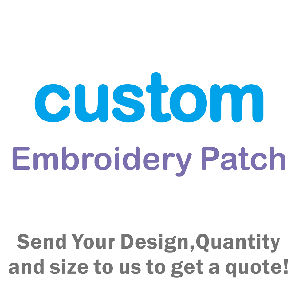 Free Shipping Custom Patch Embroidered Of 3D Embroidery Customization Patches For You Logo Clothing Eco-Friendly Iron On Patche