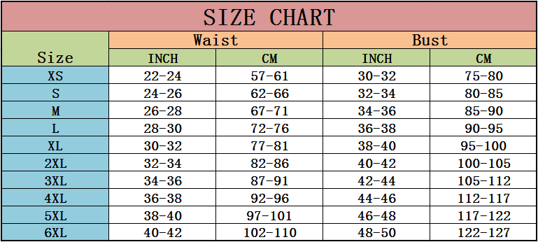 the size chart