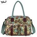 ZIWI Цветочные Большие Дорожные Сумки Новая Мода Известных Дизайнеров Марка Леди Сумки С Pringting Часы Для Женщин QQ1982