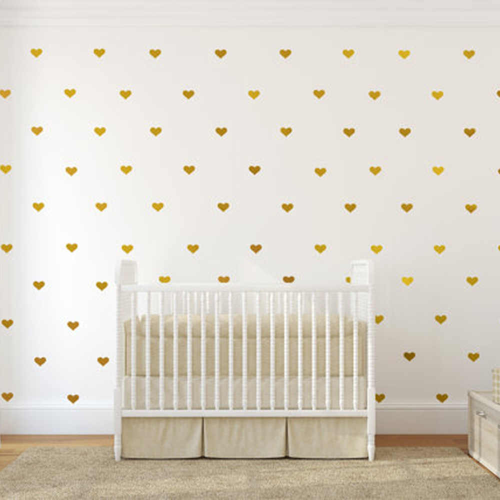 50pc Heart Wall Stickers For Kids Room Girl Baby Room Decorative Home Decor Stickers Children Wall Stickers Room Decoration