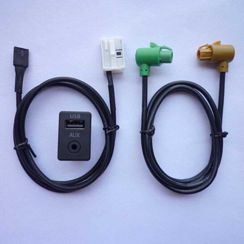 <font><b>USB</b></font> AUX Switch INPUT Plug Cable LINE FOR <font><b>VW</b></font> TOURAN <font><b>Golf</b></font> MK6 <font><b>5</b></font> Jetta Tiguan Passat B6 B7 CC NEW POLO RCD510 RNS315 3CD 035 249 A image