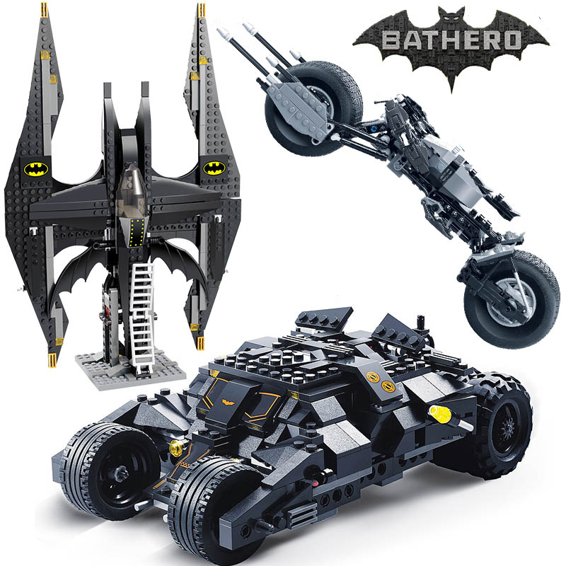 Decool Super Heroes Batman Tumbler BatMobile Batwing Building Blocks 7116 Compatible 7784 Educational Toys For Children Gifts стоимость
