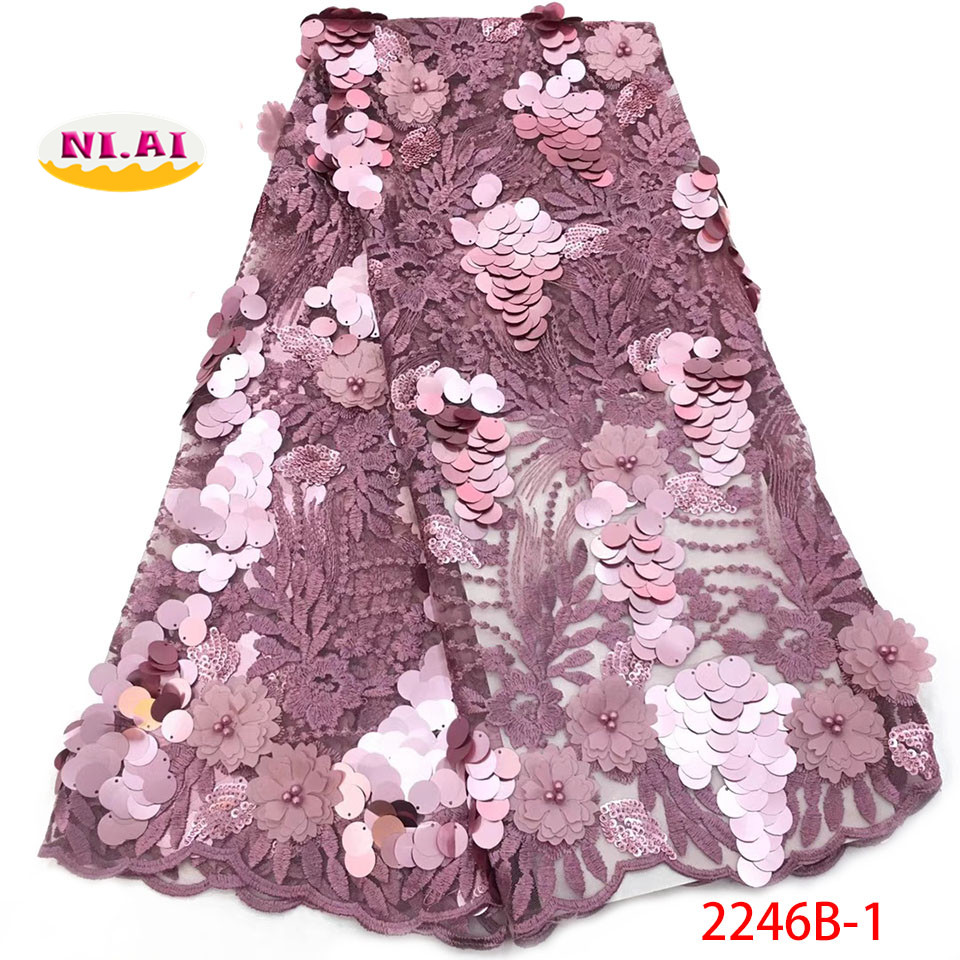 latest 3d fabric with beads 2017 high quality beaded 3d lace fabric with 3d flower 5yard