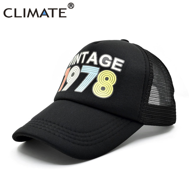 7d5ea84e74e Online Shop CLIMATE Vintage 1978 Trucker Cap Men Women Retro 40th ...