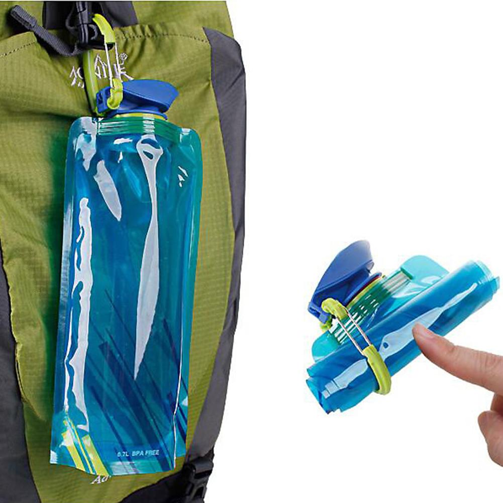 Foldable Drinking Water Bottle Bag Pouch Outdoor Hiking Camping PE Water Bag Soft Flask Squeeze for Running Cycling Water Bags(China)