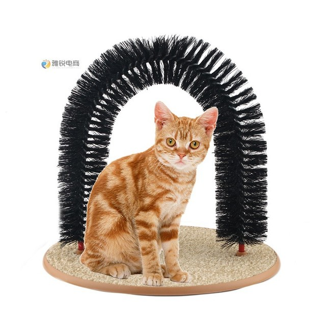 Hot Sale Cat Toys Purrfect Arch Door Brush Rub Hair Brush Type Cat Scratch  Cat Toy