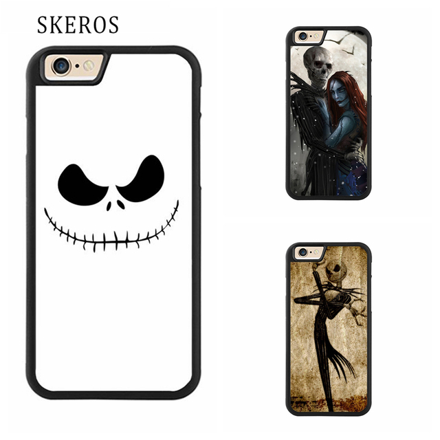 outlet store 5398e ce6d3 US $4.99 |SKEROS jack nightmare before christmas cover cell phone case for  iphone X 4 4s 5 5s 6 6s 7 8 6 plus 6s plus 7 plus 8 plus #ee253-in Fitted  ...