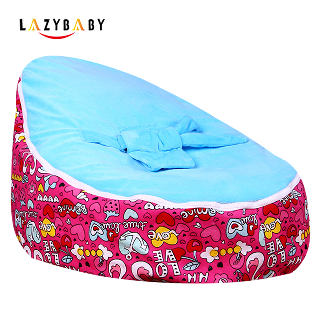 Lazybaby Medium Swan Love Baby Bean Bag Chair Kids Bed For Sleeping Portable Folding Newborn Babies