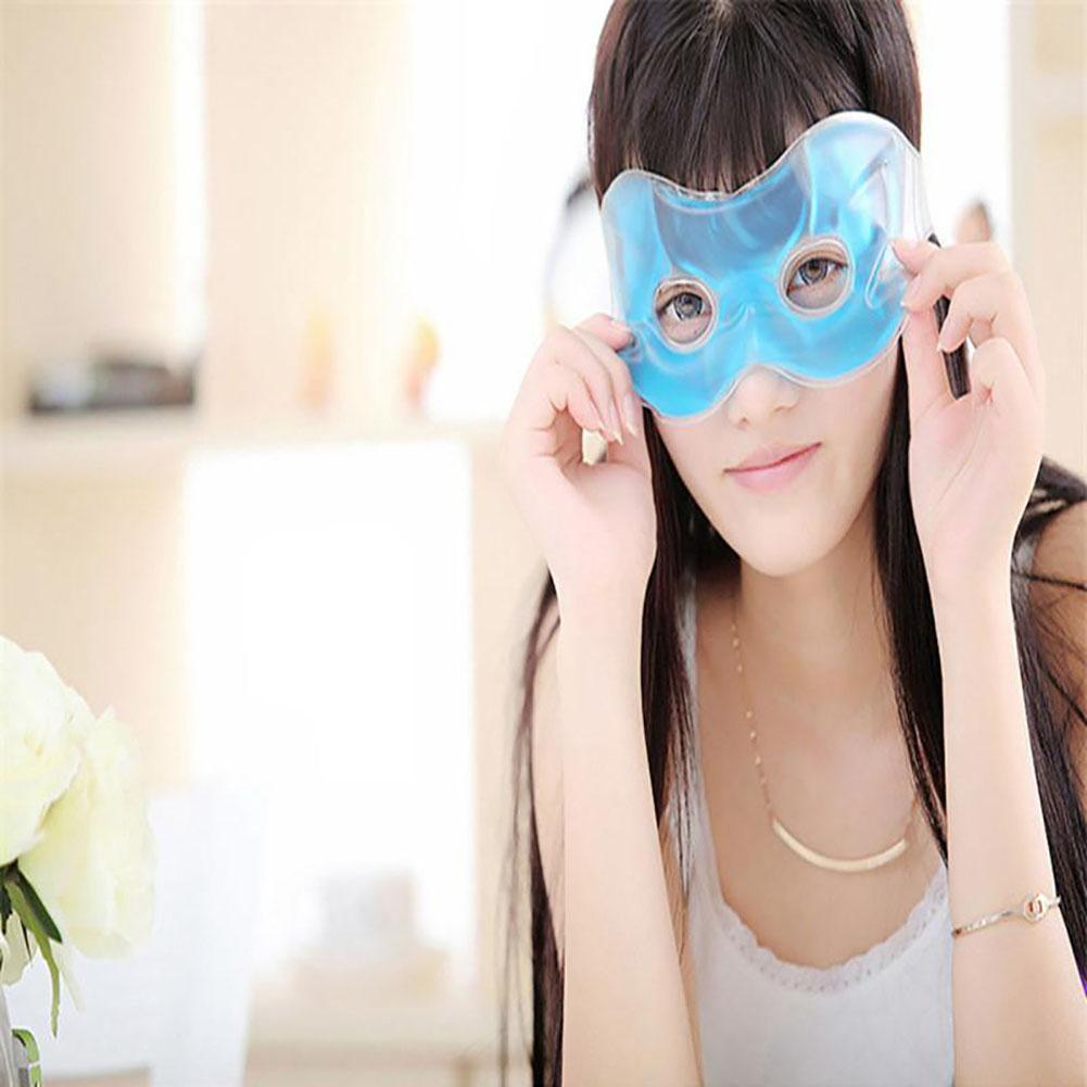 Gel Ice Hot Heat Eye Shield Relieve Eye Fatigue Remove Dark Circles Eye Mask STA diy gel eye mask