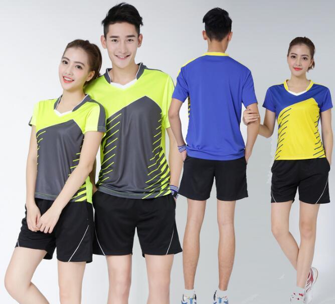 men badminton wear suit t-shirt+short,table tennis jerseys for men,tenis masculino shirt for women,tennis/ping pong shorts
