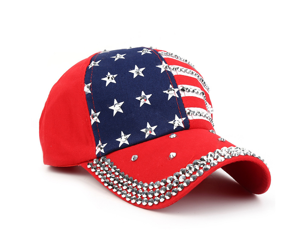 Detail Feedback Questions about Genbitty High Quality Star Pattern Baseball  Cap Rivet Printed Women Men American Flag Snapback Hip Hop Hats  Dropshipping ... 74fbabfe6a04
