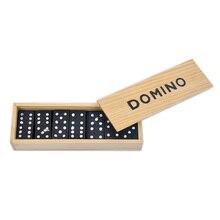 Домино головоломка настольная игра с деревянной коробкой игра 28 шт. блоки смешная игра для детей Инструкция на английском языке