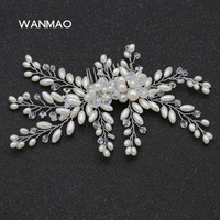 High End Hand Imitation Pearl Hair Comb Dress Wedding Dress Accessories Bridal Jewelry Crystal Hair Accessories