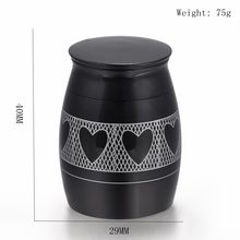 Hearts around 316L Stainless Steel Cremation Urn Engraving Pet/ Human Ashes Holder Keepsake Funeral Jewelry for Cat/ Dog Ashes