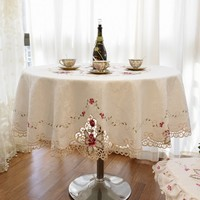 Big size round and square tablecloth wholesale Luxury European style round tablecloth free shipping