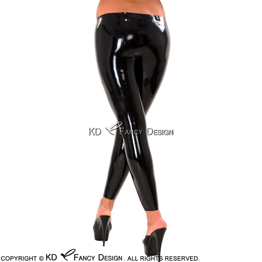 Готический выдалбливают эластичный женской красоты тонкий сексуальный темные леггинсы в стиле панк Модные дьявол следы Для женщин черные ... - 2