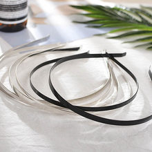 5 pçs/lote 3/5/6/7mm cabeça de cabelo hoop bandas em branco banda aço inoxidável para headwear fazendo ajuste base plana ajuste diy jóias cabelo