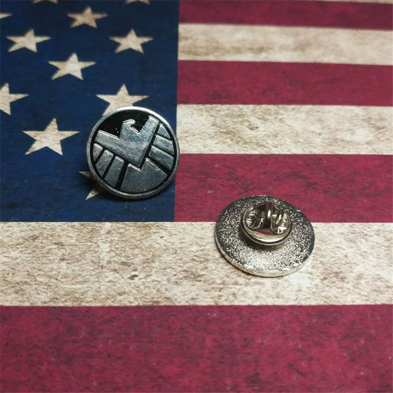 New The Avengers Agents Of Shield S.H.I.E.L.D. Badge & Hail Hydra Pin Red Skull Metal Hydra Badge Commemorative Pin Brooch Badge