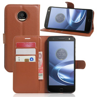 Z play For Motorola Moto Z play Case Wallet Card Slots Stent Cases Lichee Pattern Flip Leather Protect Cover Black Z play