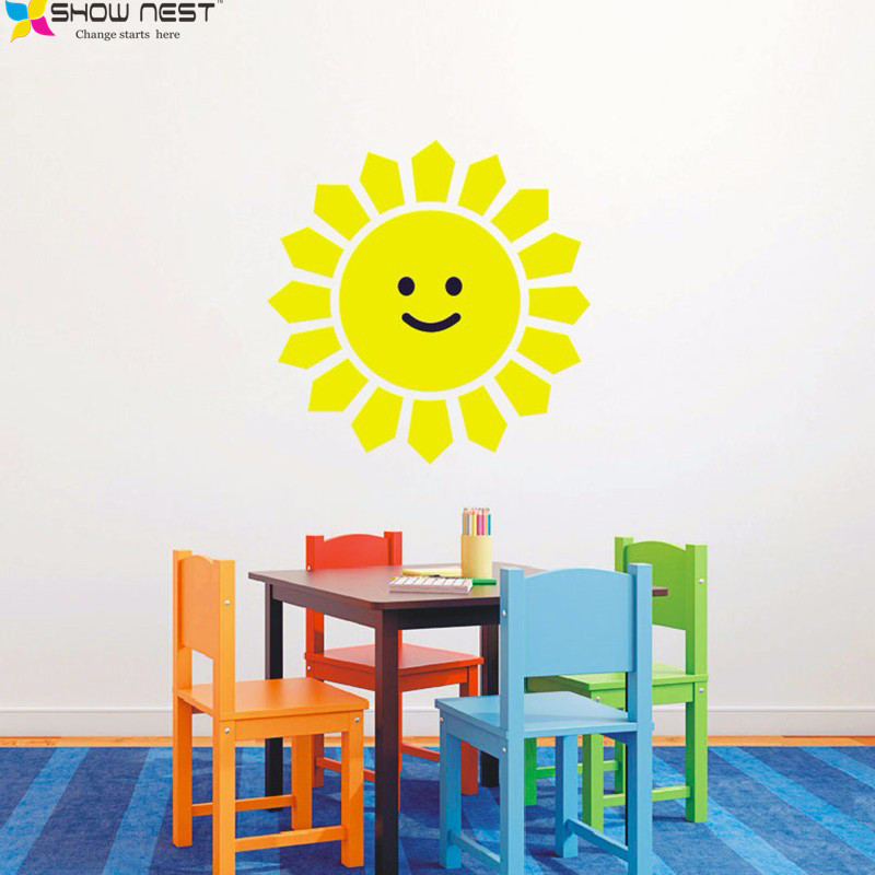 Smiling Sun Wall Sticker Stikers For Wall Decoration Nursery Wall ...
