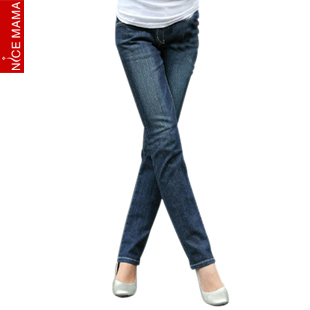 100% cotton maternity clothing autumn maternity jeans pants trousers belly pants