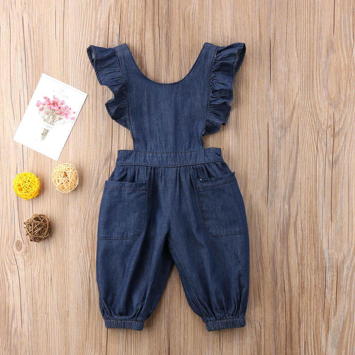 586a29bf2a7e ... Fashion Summer Cute Kids Baby Girls Denim One Piece Loose Overalls  Casual Cross Jumpsuit Romper Outfits ...