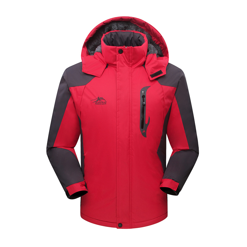 ФОТО Winter Ski Jacket Men Waterproof  Fleece Snow Jacket Thermal Coat For Outdoor Mountain Skiing Snowboard Jacket Plus Size Brand