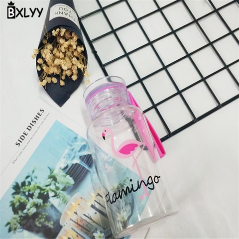 BXLYY Plastic Pink Flamingo Water Bottle 300ml Portable Sports Shaker Home Decor Accessories Bottle Gifts for The New Year.8z Karachi