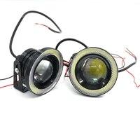 Bianco 2 pz Impermeabile Proiettore LED Della Luce di Nebbia Lente Halo Angel Eyes anelli COB 30 W Xenon 12 V-15 V SUV ATV Lampada Della Nebbia 2.