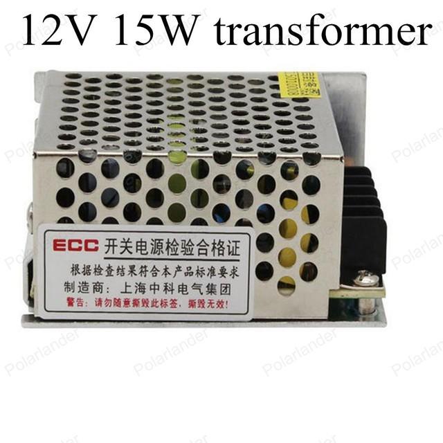 Tira de LED de Conducción tamaño mini fuente de alimentación AC 220 V 50 ~ 60 HZ a DC 12 V 15 W de alta calidad de Aislamiento de aluminio de Iluminación Transformador