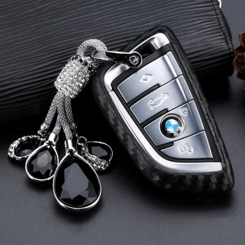 Crystal Pendant Car Key Case for BMW 1 3 5 7 Series X3 X5 X6 F15 F16 118i 120 218i 220i 320i 520i 740 Car Styling key Shell image