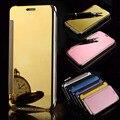 V10 g4 g5 smart phone case clear view espelho de couro da aleta de luxo pc case para lg g5 g4 v10 auto vigília do sono tampa do telefone sacos