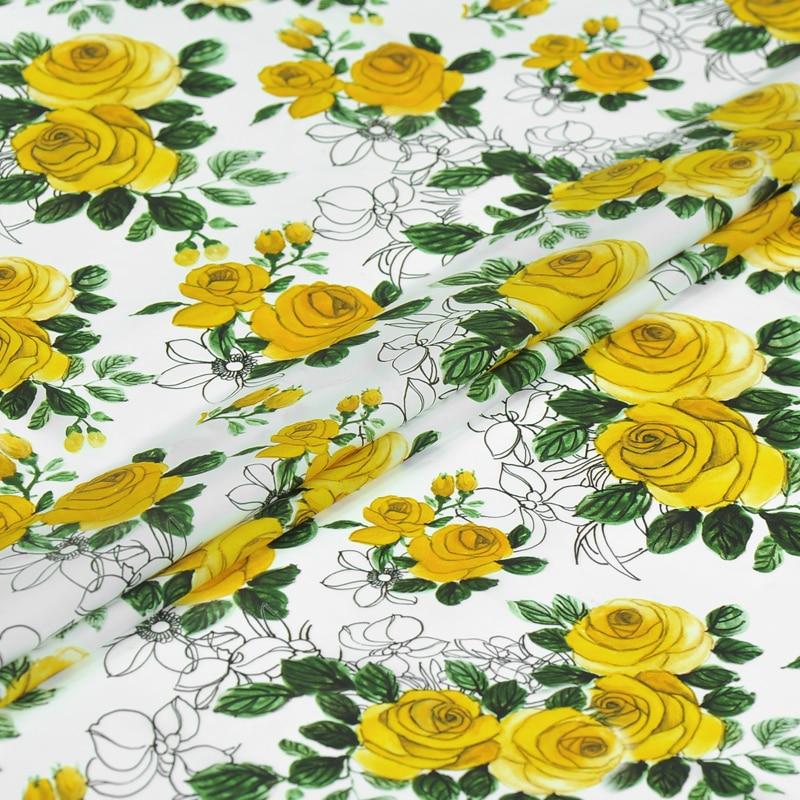 Het ontwaken van de lente bloem digitale schilderen stretch Dubbele Joe zijde stof voor bazin riche getzner 2018 telas tissus au meter