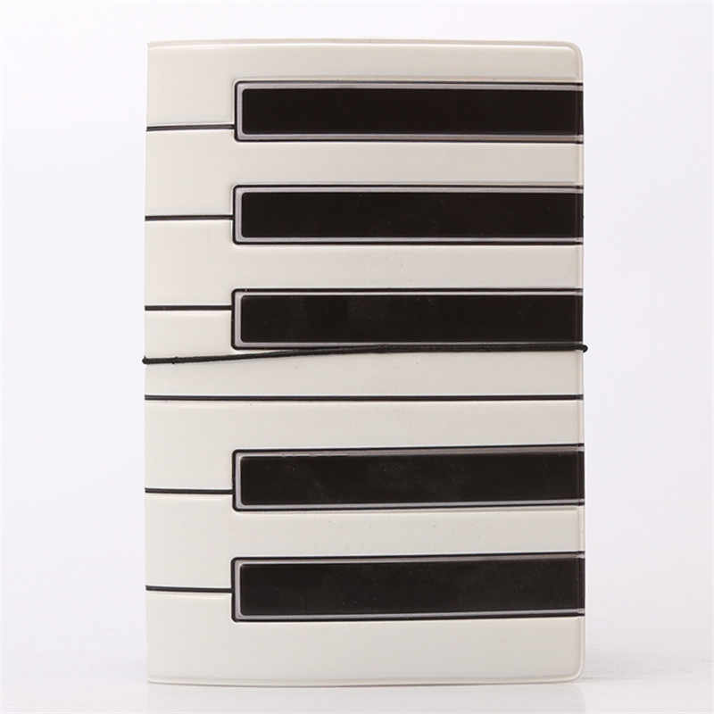 Creative Piano Passport Holders Covers PU Leather Black White Travel Accessories ID Bank Card Bag Women Passport Business Wallet