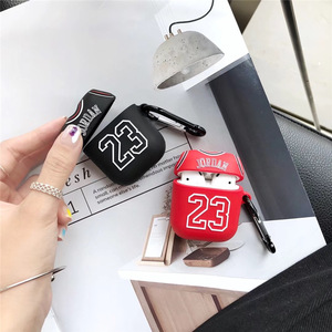 Image 2 - 용 에어팟 케이스 소년 농구 소프트 실리콘 이어폰 애플 에어팟 2 보호 커버 Funda 손가락 링 스트랩