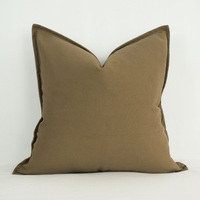 100 Thickened Cotton Cushion Cover Solid Color Simple Style Sofa Red Yellow Blue Coffee Pillow Case
