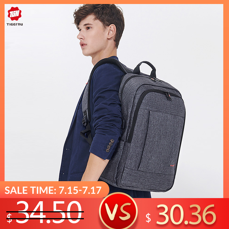 Tigernu Anti voleur USB sac à dos 15.6 à 17 pouces sac à dos pour ordinateur portable pour femmes hommes sac d'école femme mâle voyage Mochila