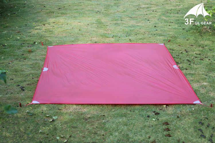 3F UL Engrenagem Ultraleve Mini Lona Leve Sol Abrigo Barraca de Camping Mat Pegada 20D Nylon Silicone 195g Tenda Parágrafo carro
