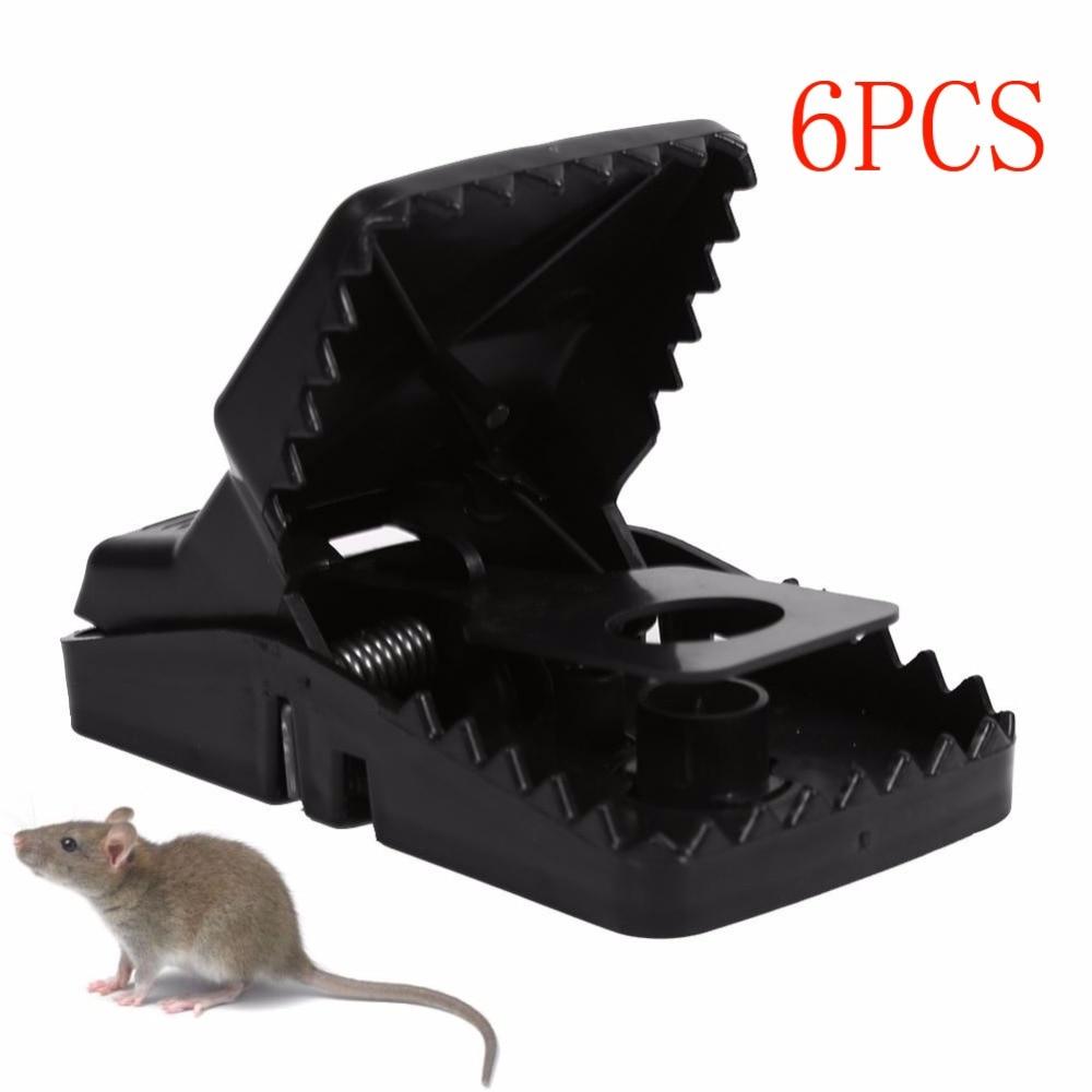 6Pcs/Set Mouse Traps Black Reusable Rat Catching Mice