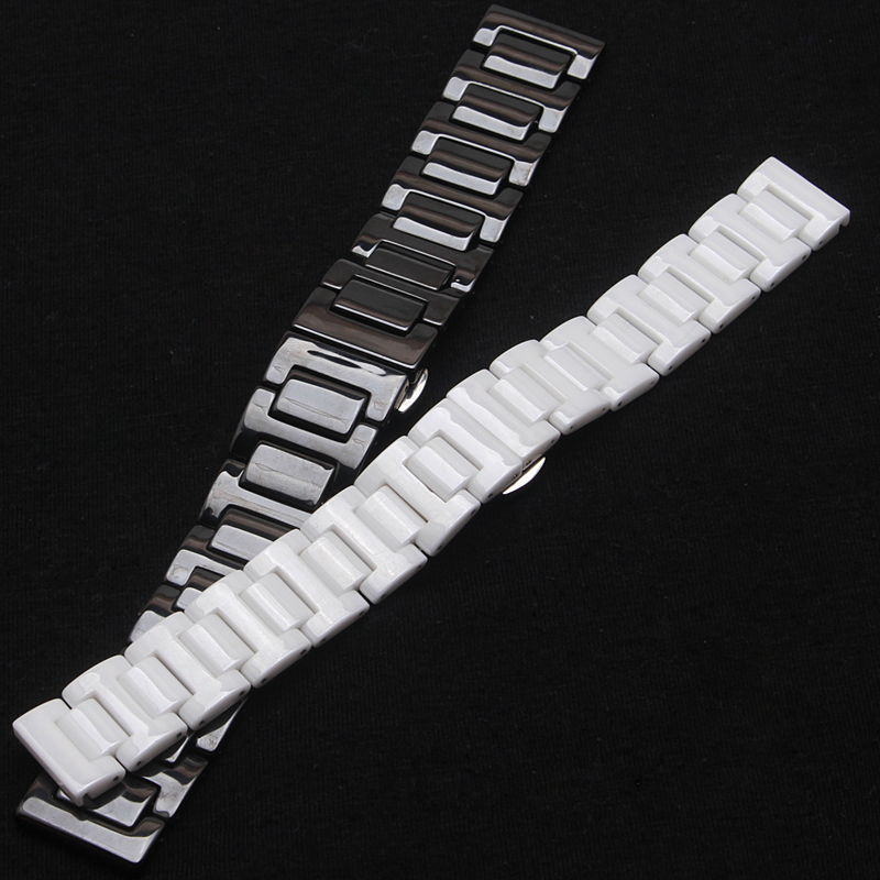 Ceramic Strap Watch Band Double Deployant Clasp for Samsung Gear S2 Classic R732 with 20mm 22mm fashion watchbands accessories