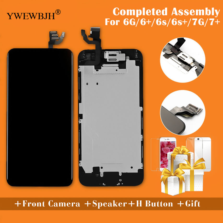 YWEWBJH AAA Para iPhone Tela LCD Montagem Completa Para 6 6 Plus 6s Exibição Exibição Substituição Da Tela de Toque Não pixel morto
