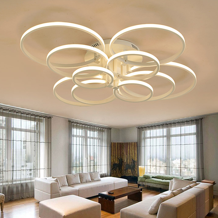 Modern Led Halo Ceiling Lights For Living Dining Room Bedroom Round Led Home Lighting Acrylic Ceiling Lamp Home Lighting Fixture modern acrylic led ceiling lights for living room bedroom plafond ceiling home lighting lamp homhome lighting